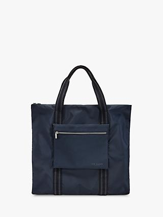 Ted Baker Arlit Foldaway Shopper Bag, Dark Blue
