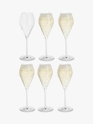 Dartington Crystal Prosecco Party Glasses, 230ml, Set of 6, Clear