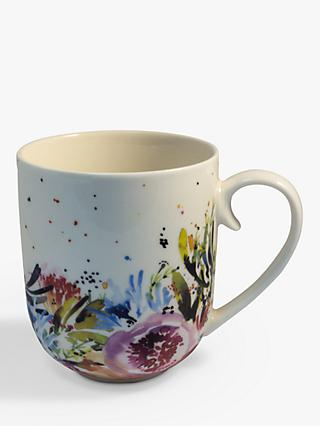 Kelly Ventura Fuschia Blooms Mug, 250ml, Multi