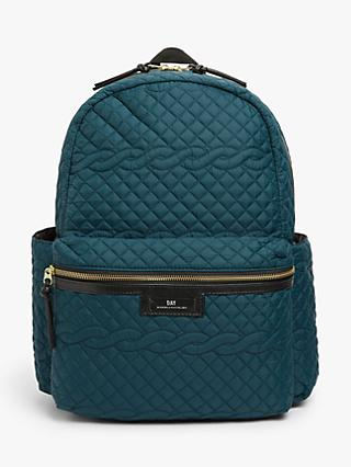 DAY et Gweneth Cable Quilted Backpack, Teal