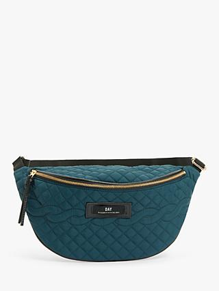DAY et Gweneth Quilted Cable Belt Bag, Teal