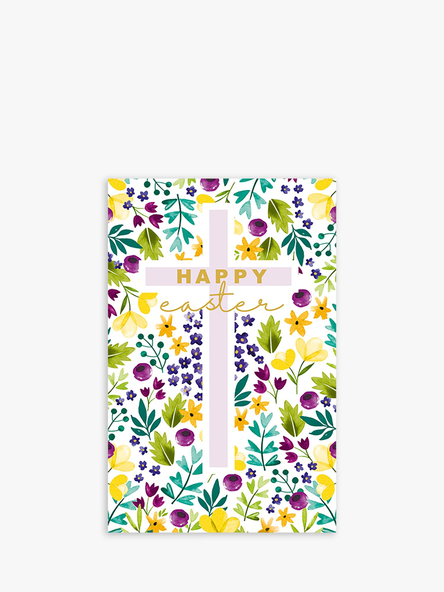 Art File Art File Floral Cross Easter Cards, Pack of 6