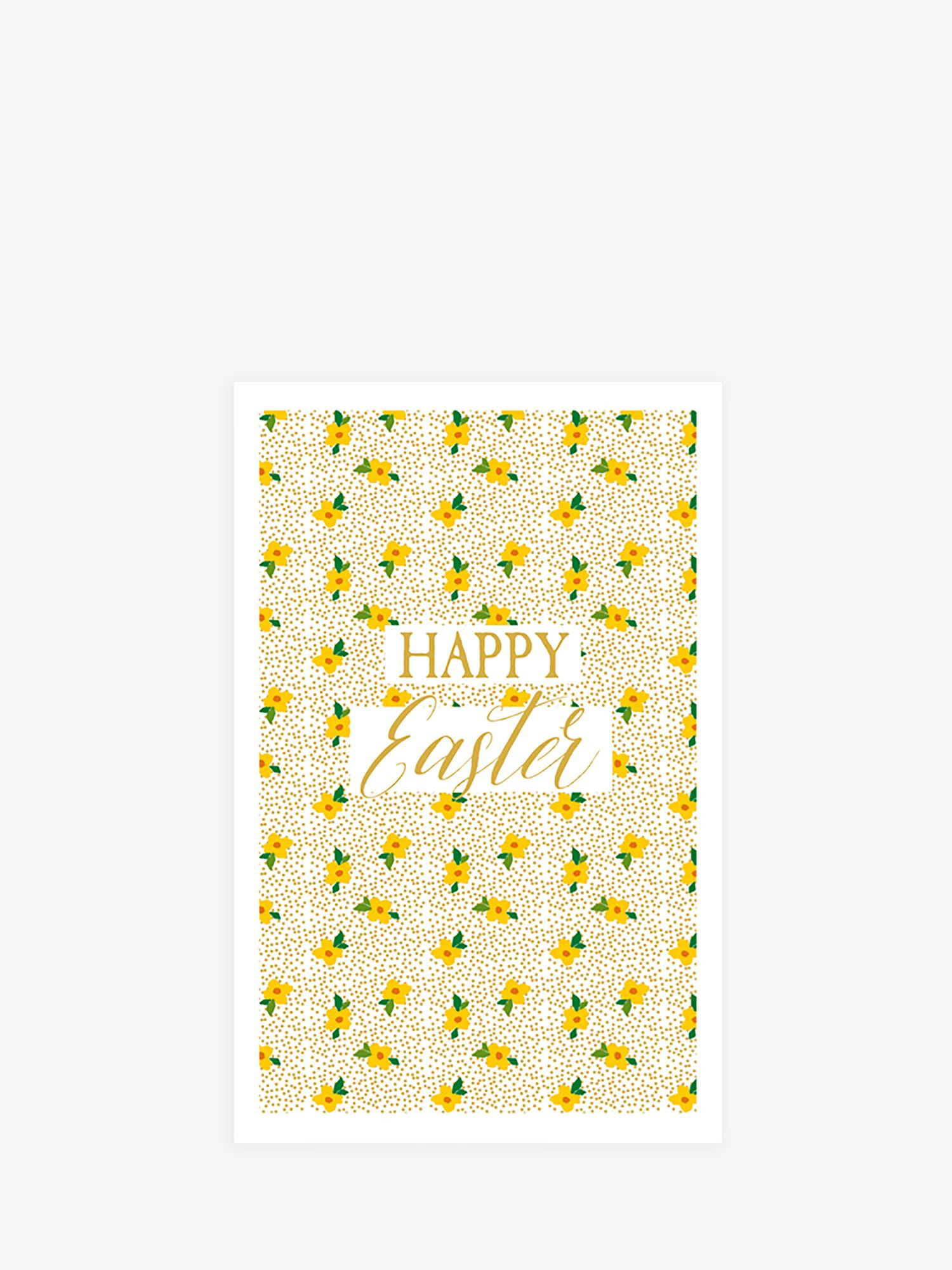 Art File Art File Yellow Flowers Easter Cards, Pack of 6