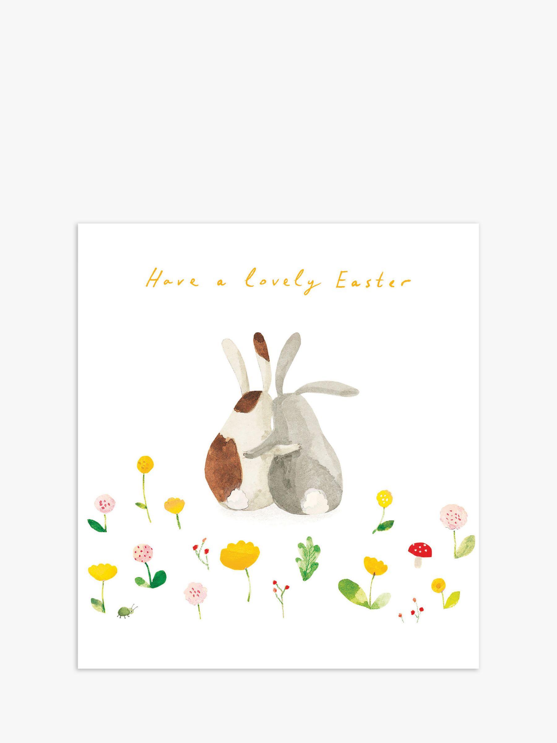 Woodmansterne Woodmansterne Cuddling Bunnies Easter Cards, Pack of 5