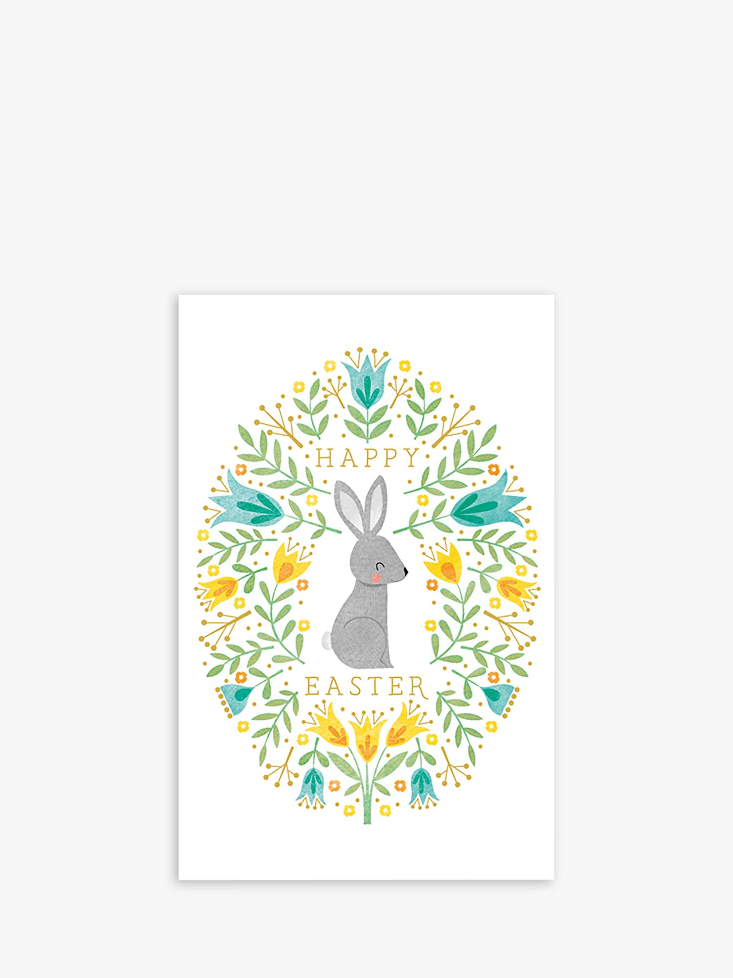 Art File Art File Rabbit & Flowers Easter Cards, Pack of 6