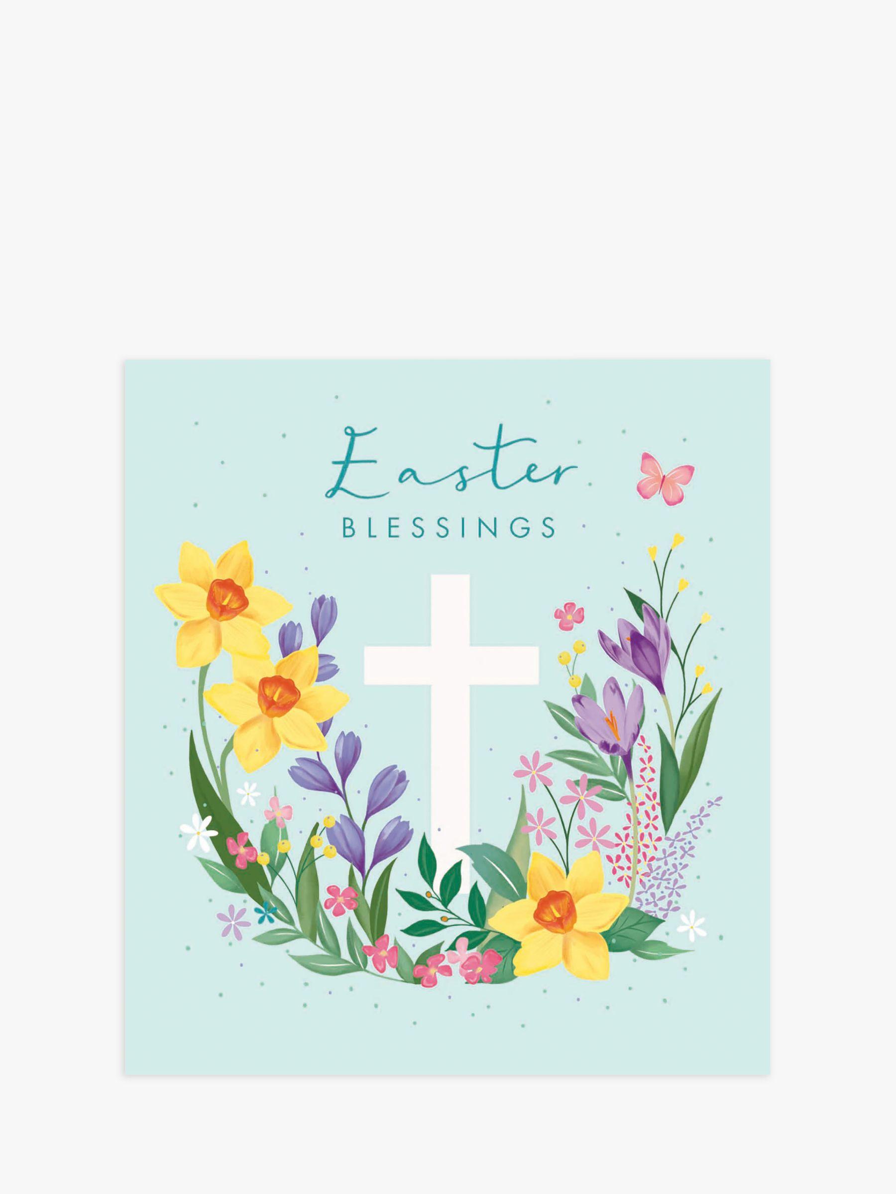 Woodmansterne Woodmansterne Floral Cross Easter Cards, Pack of 5