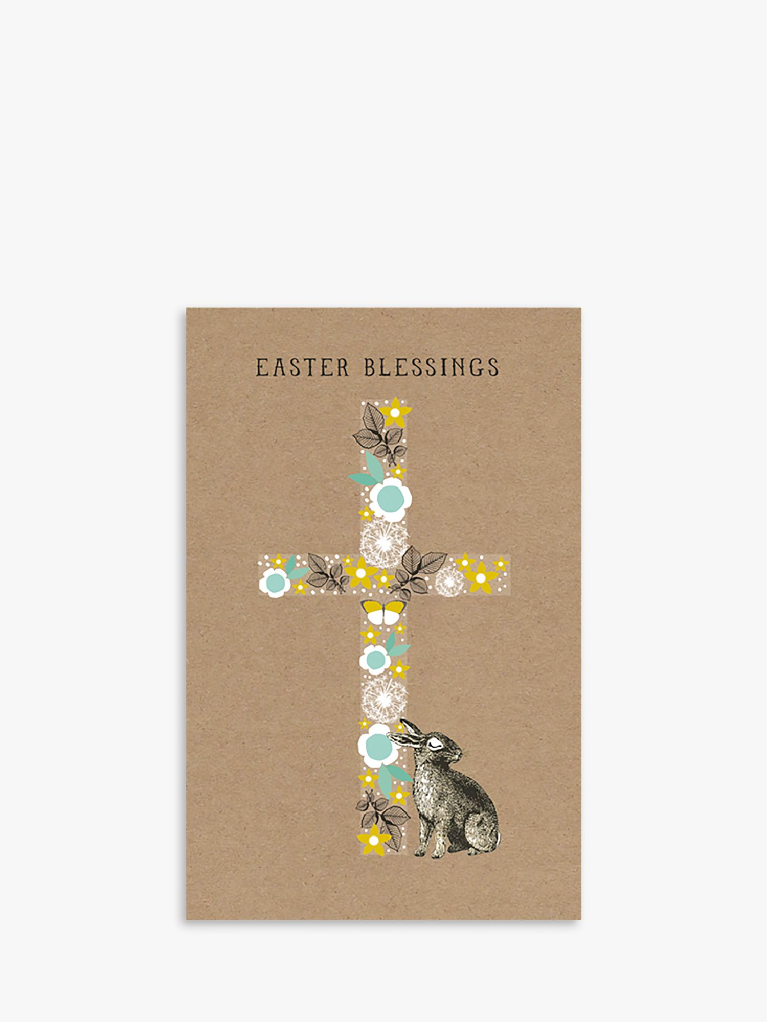 Art File Art File Bunny & Cross Blessing Easter Cards, Pack of 6
