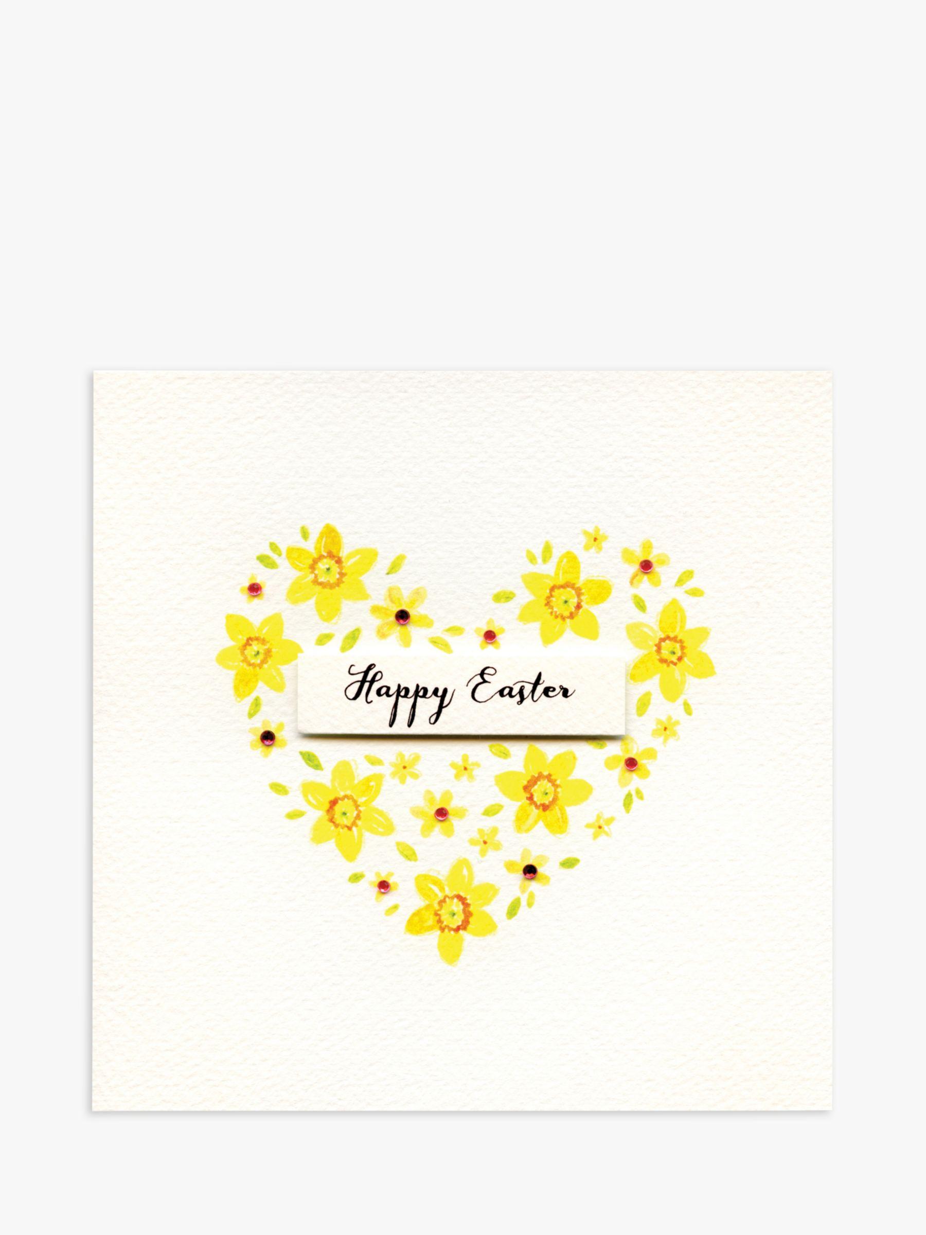 Blue Eyed Sun Blue Eyed Sun Daffodils Heart Easter Card
