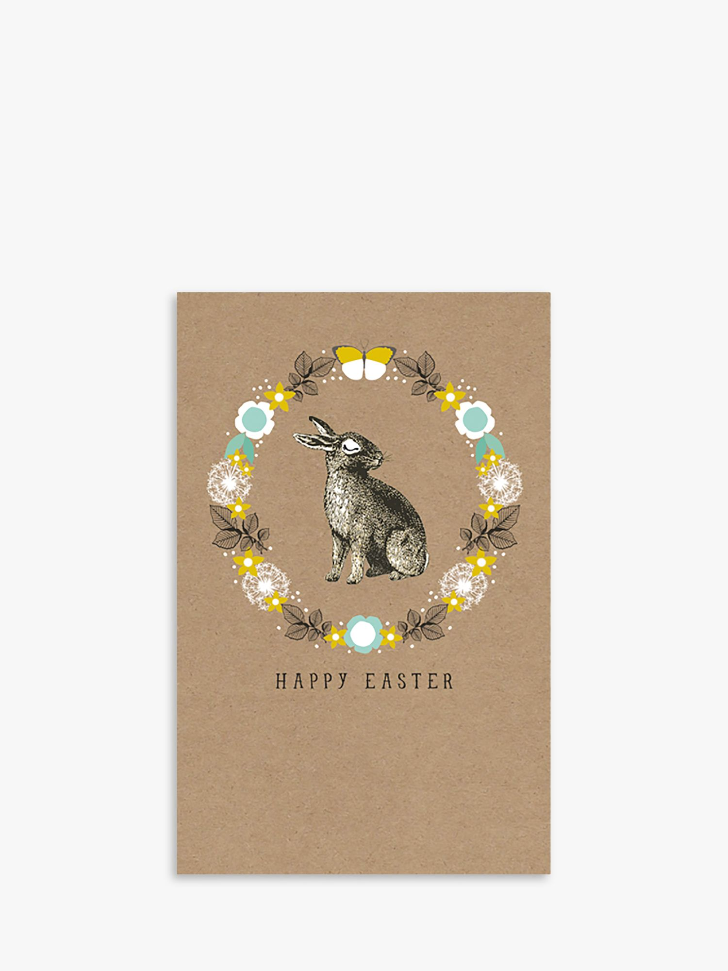 Art File Art File Bunny Wreath Easter Cards, Pack of 6