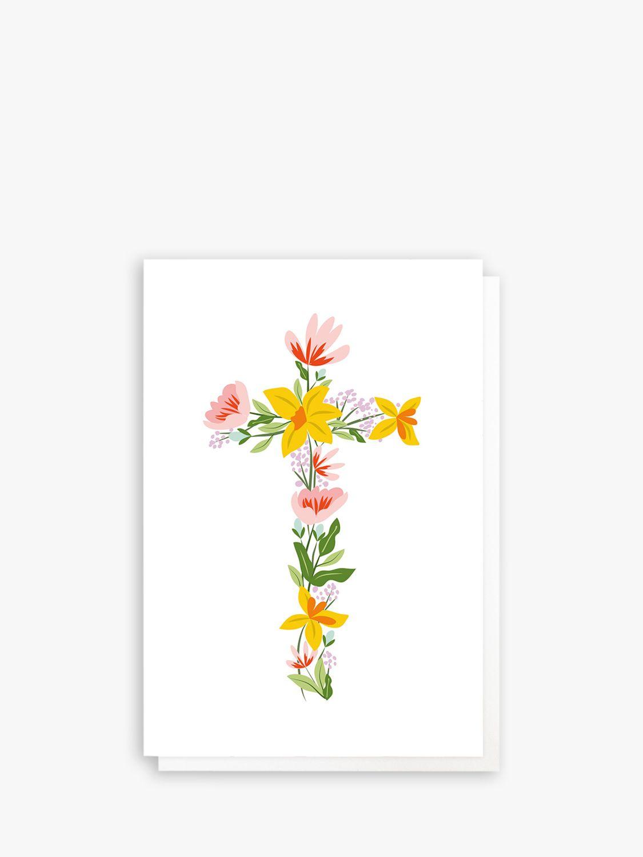 Caroline Gardner Caroline Gardner Floral Cross Easter Cards, Pack of 10