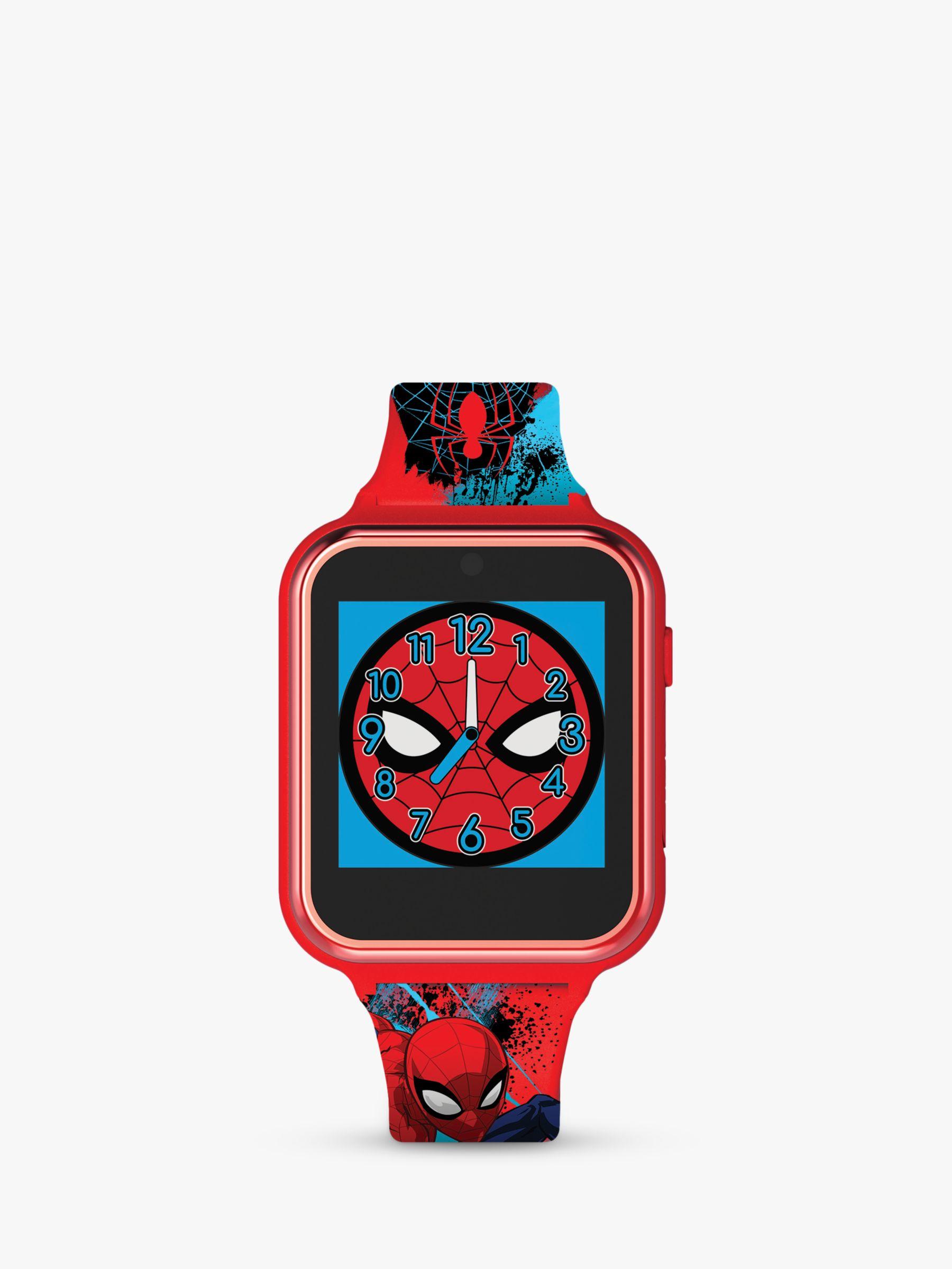 Disney Disney Spiderman SPD4588 Children's Interactive Silicone Strap Watch, Red/Blue