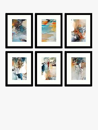Natasha Barnes - Painterly Abstract Framed Print & Mount, Set of 6, 43.5 x 33.5cm, Multi