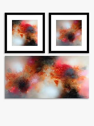 Eelco Maan - Abstract Canvas Prints, Set of 3, Red/Multi