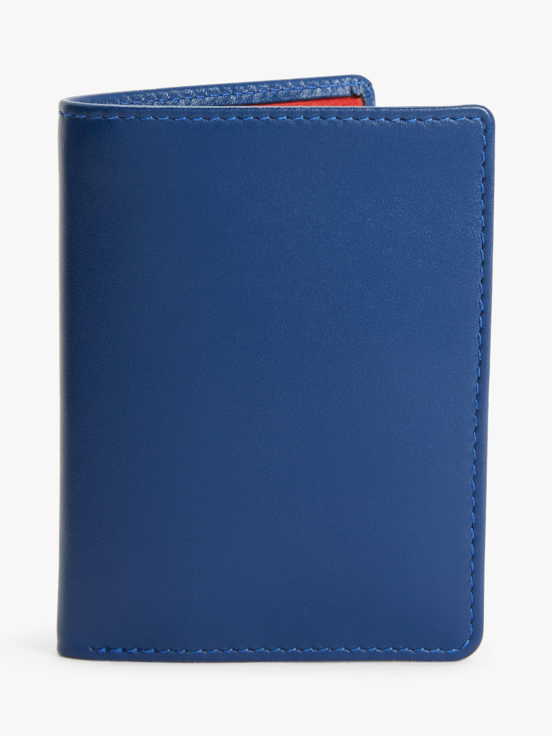 Launer Launer Leather Four Credit Card Coin Wallet, Blue/Red
