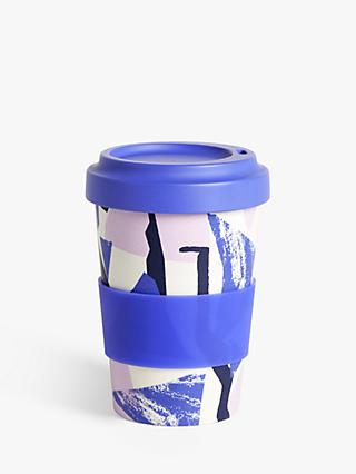 John Lewis & Partners Geometric Bamboo Travel Mug, 480ml