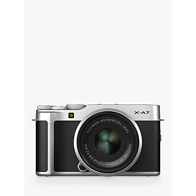 Fujifilm X-A7 Compact System Camera with XC 15-45mm OIS Lens, 4K Ultra HD, 24.2MP, Wi-Fi, Bluetooth, 3.5� Vari-angle LCD Touch Screen, Black & Silver