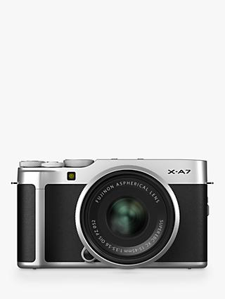 "Fujifilm X-A7 Compact System Camera with XC 15-45mm OIS Lens, 4K Ultra HD, 24.2MP, Wi-Fi, Bluetooth, 3.5"" Vari-angle LCD Touch Screen, Black & Silver"