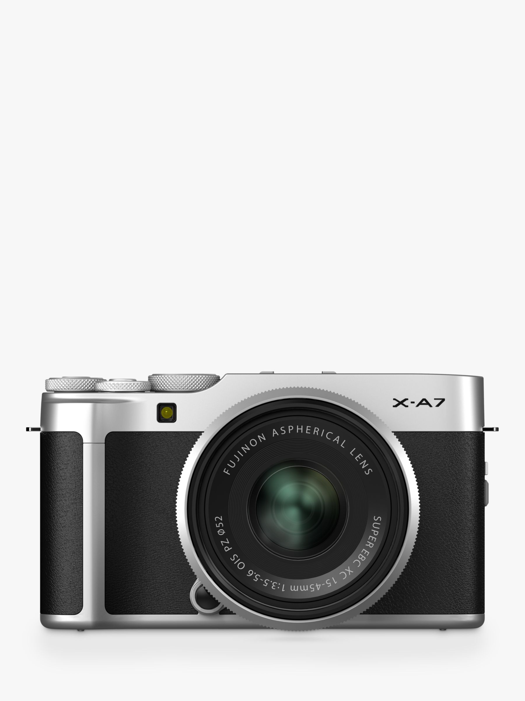 "Fujifilm Fujifilm X-A7 Compact System Camera with XC 15-45mm OIS Lens, 4K Ultra HD, 24.2MP, Wi-Fi, Bluetooth, 3.5"" Vari-angle LCD Touch Screen, Black & Silver"