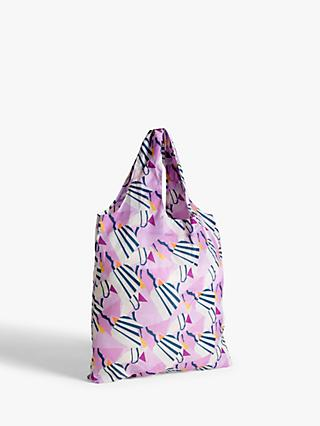 John Lewis & Partners Abstract Foldaway Shopper Bag