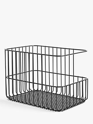 House By John Lewis Stacking Wire Basket, Large