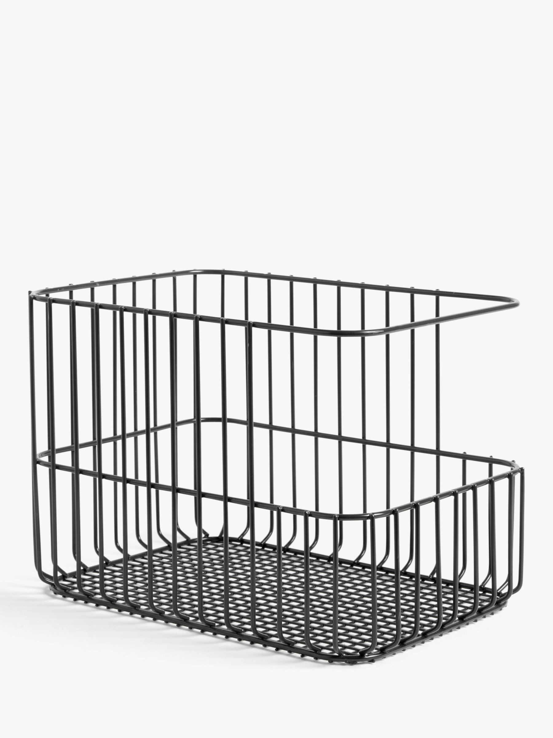 ANYDAY John Lewis & Partners Stacking Wire Basket, Large