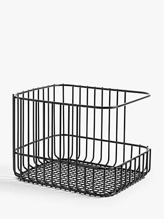House By John Lewis Stacking Wire Basket, Medium