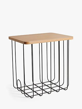 House by John Lewis Wire Magazine Rack with Wood Top