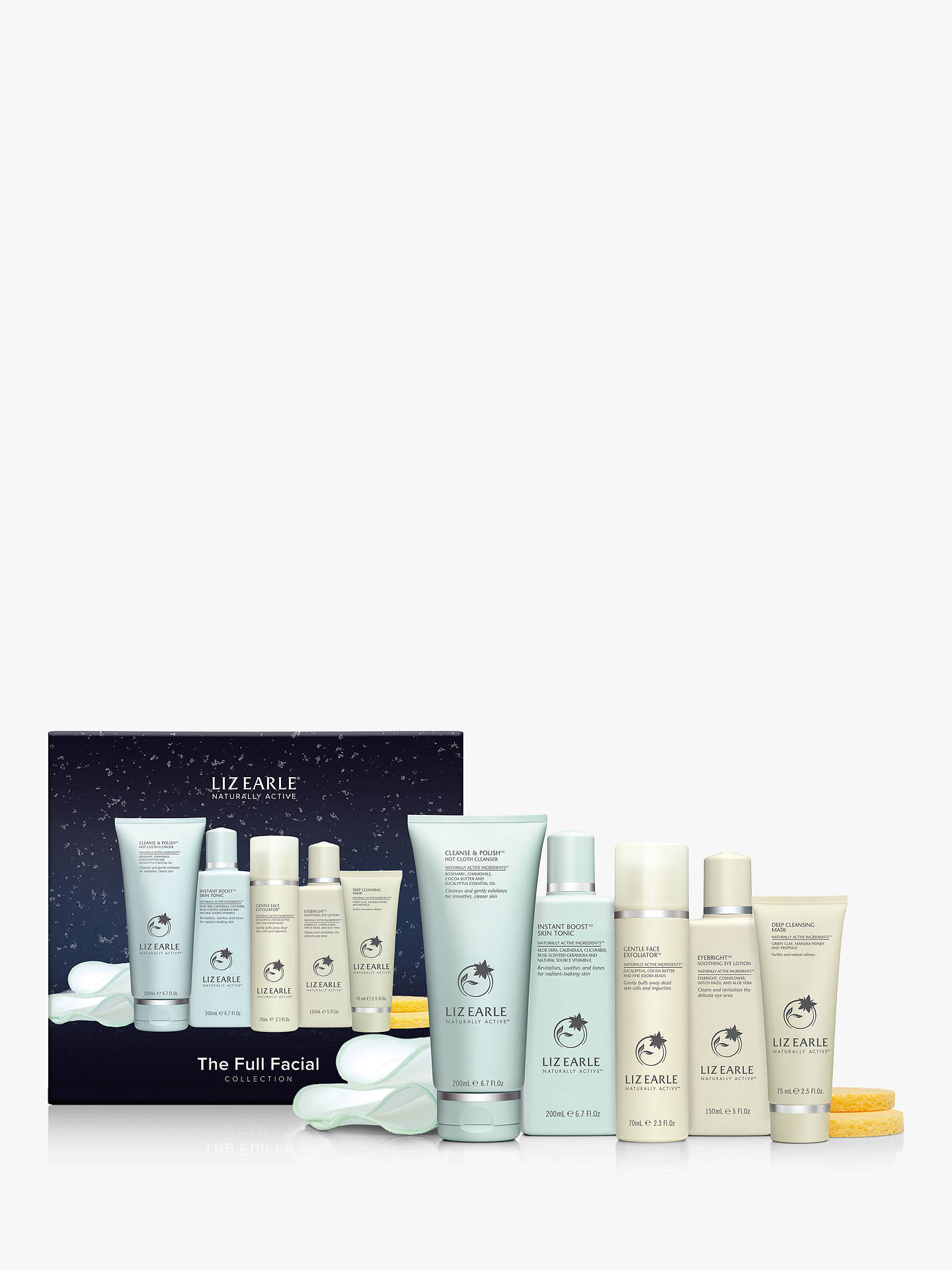 Buy Liz Earle The Full Facial Collection Skincare Gift Set Online at johnlewis.com