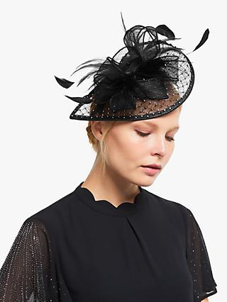 John Lewis & Partners Carina Diamante Teardrop Fascinator