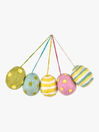 Felt So Good Decorative Felt Easter Eggs, Pack of 5