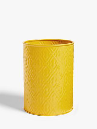 LEON Embossed Steel Utensil Pot, Yellow