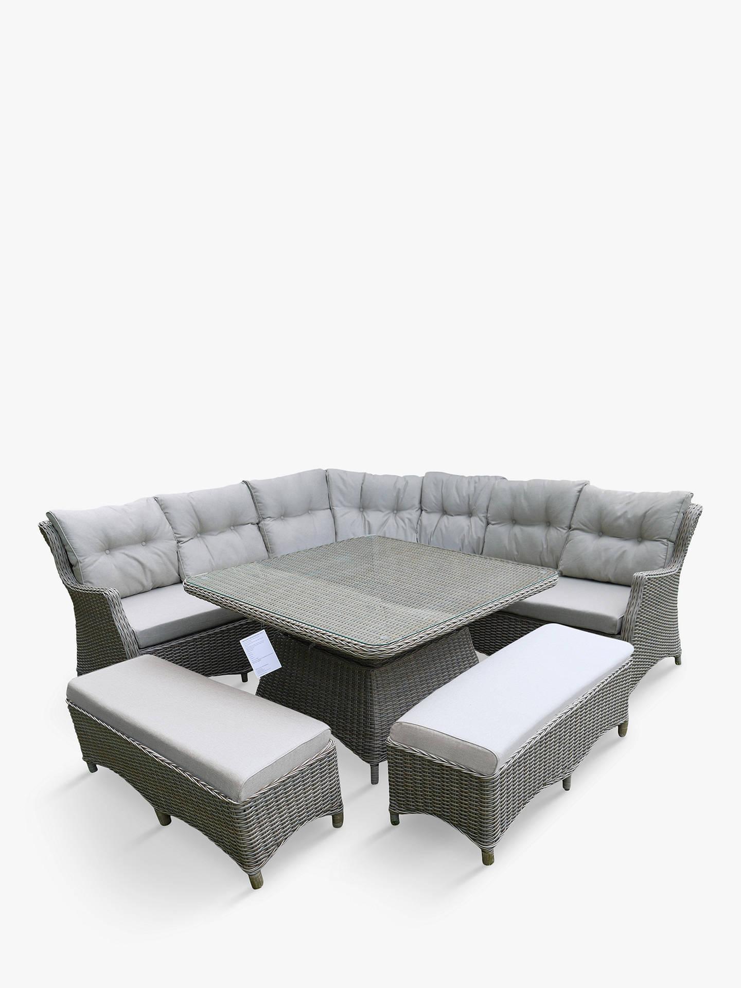 Lg Outdoor Toulon 10 Seat Modular Adjustable Garden Dining Table Lounging Chairs Set Brown At John Lewis Partners