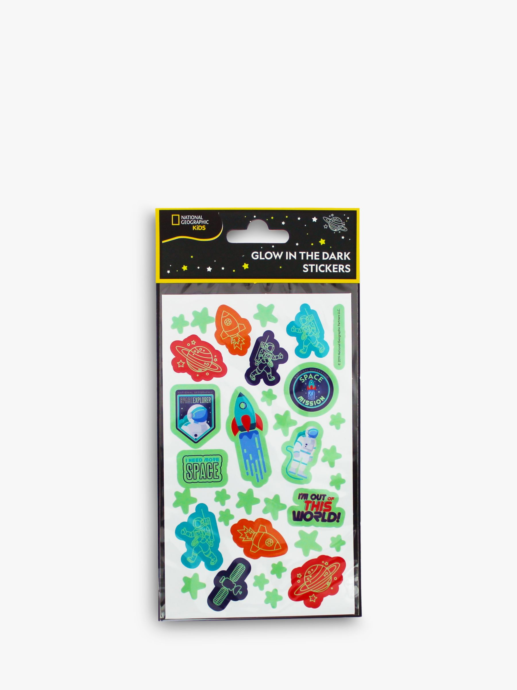 National Geographic National Geographic Glow In The Dark Space Stickers