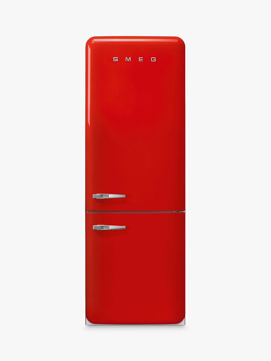 Buy Smeg FAB38 Freestanding 70/30 Fridge Freezer, A++ Energy Rating, Right-Hand Hinge, 70cm Wide, Red Online at johnlewis.com