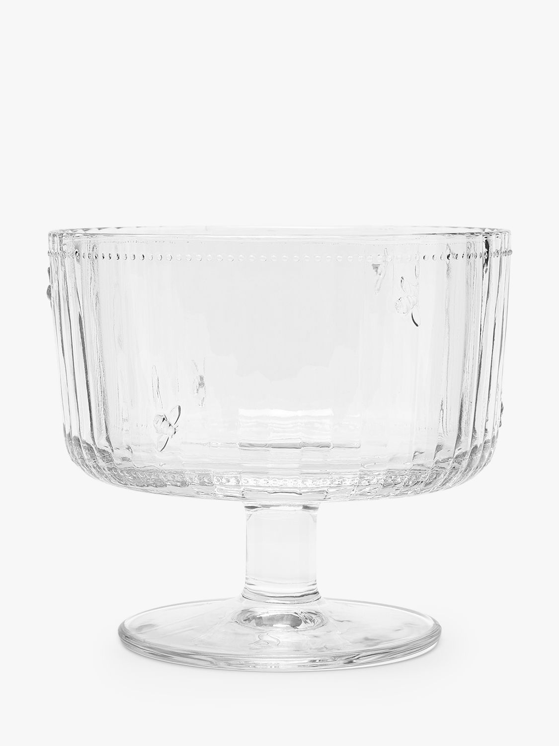 Joules Joules Bee Footed Glass Serving Bowl, 19cm, Clear