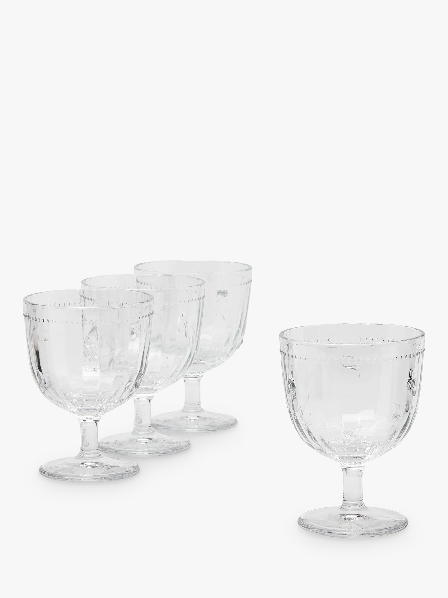 Joules Bee Gin Glasses, Set of 4, 350ml, Clear