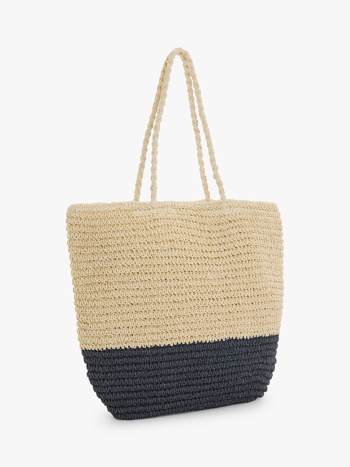 Buy John Lewis & Partners Colour Block Paper Shopper Bag, Navy Mix Online at johnlewis.com