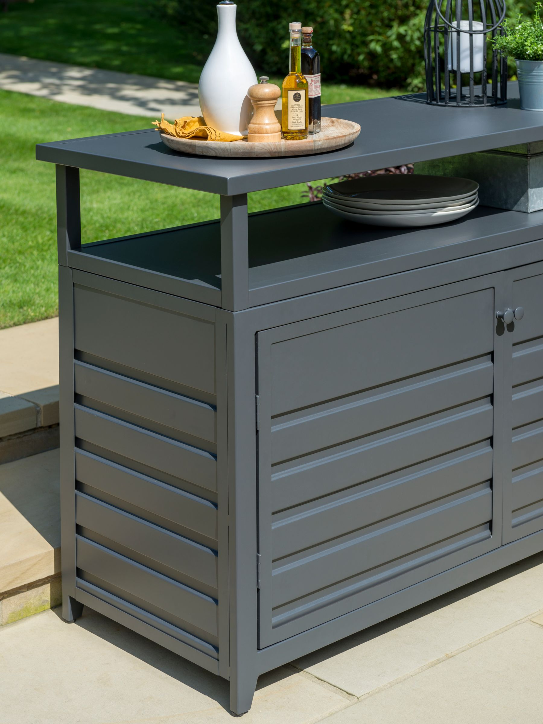 Picture of: Kettler Aluminium Garden Sideboard Anthracite At John Lewis Partners