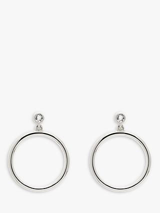 Melissa Odabash Swarovski Crystal Hoop Drop Earrings