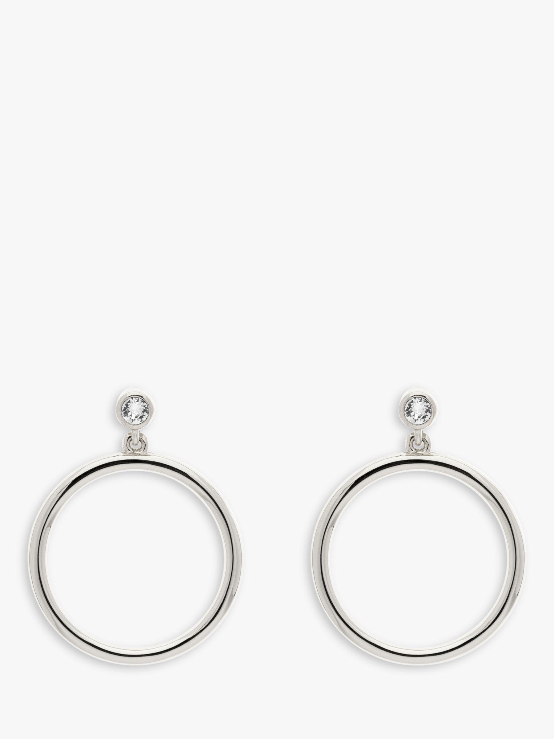 Melissa Odabash Melissa Odabash Swarovski Crystal Hoop Drop Earrings