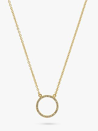 Melissa Odabash Crystal Circle Necklace