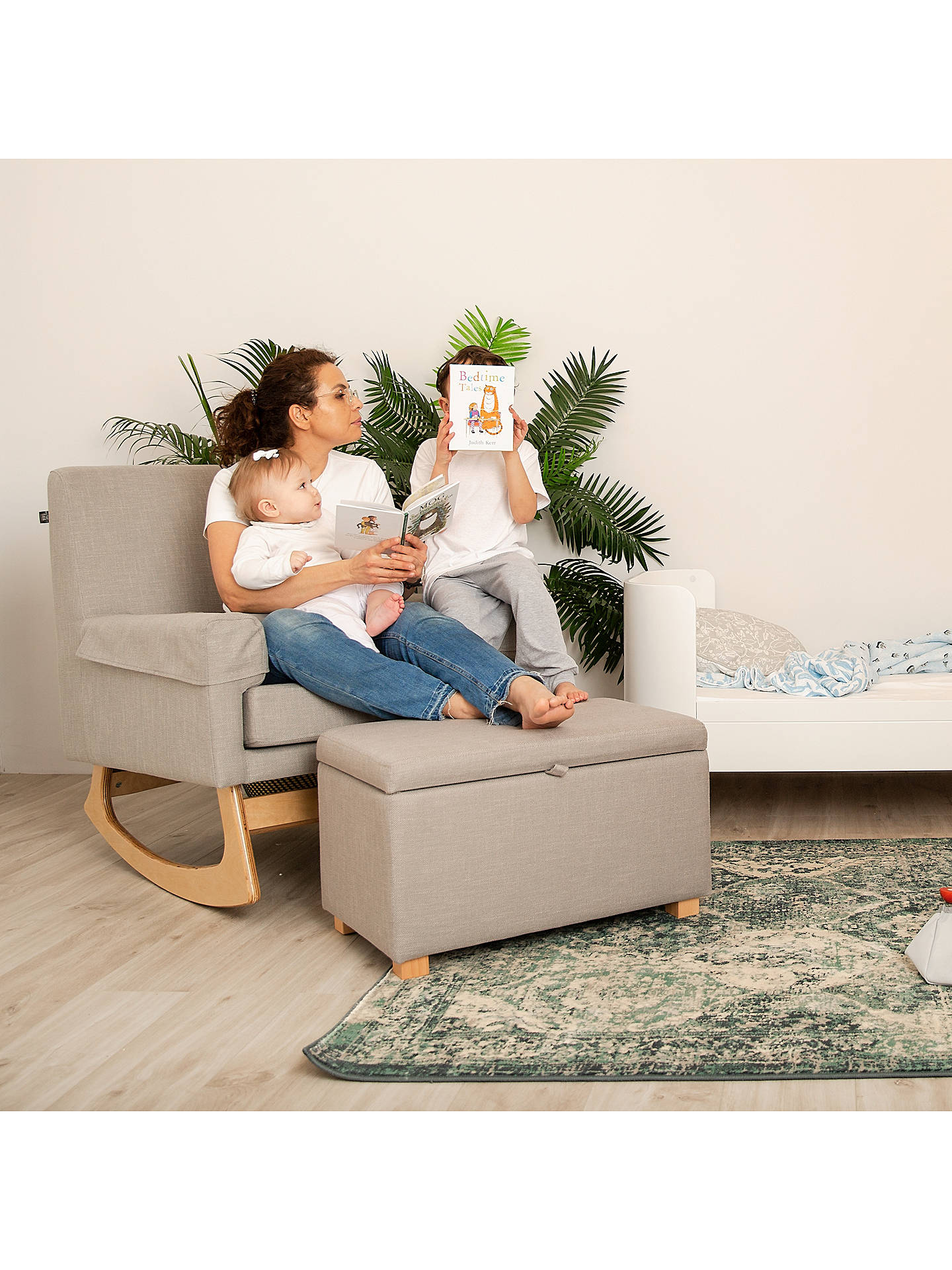 Gaia Baby Serena Nursing Rocking Chair, Oat