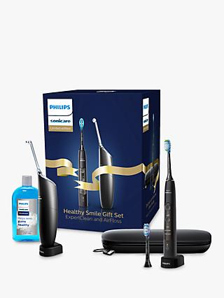Philips Sonicare Healthy Smile Gift Set with ExpertClean and Airfloss Pro, Black