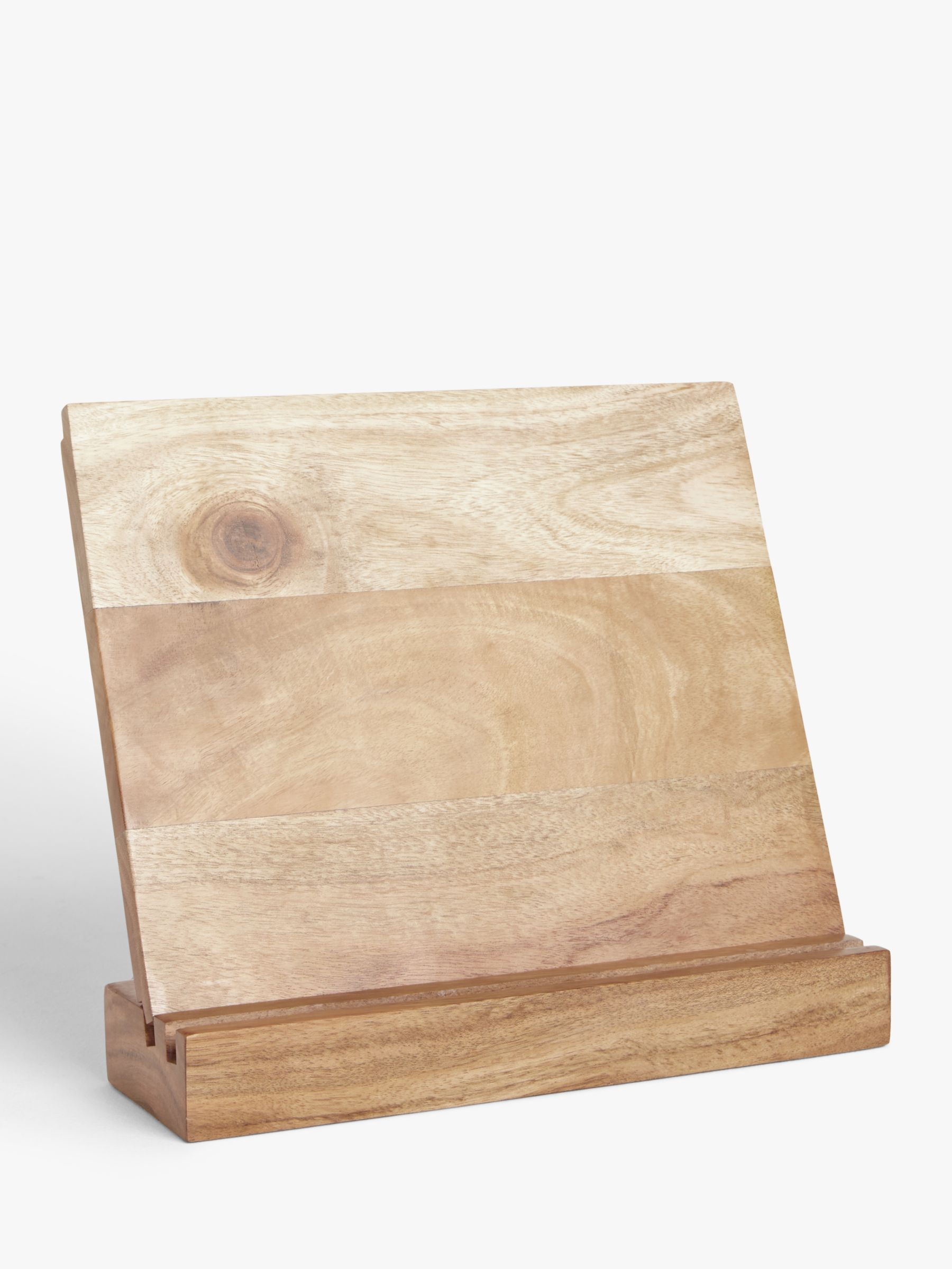 John Lewis & Partners Acacia Wood Cookbook/Tablet Stand and Board