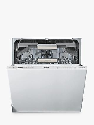 Whirlpool SupremeClean WIO3O33DEL Integrated Dishwasher, 59.8cm Width, Stainless Steel