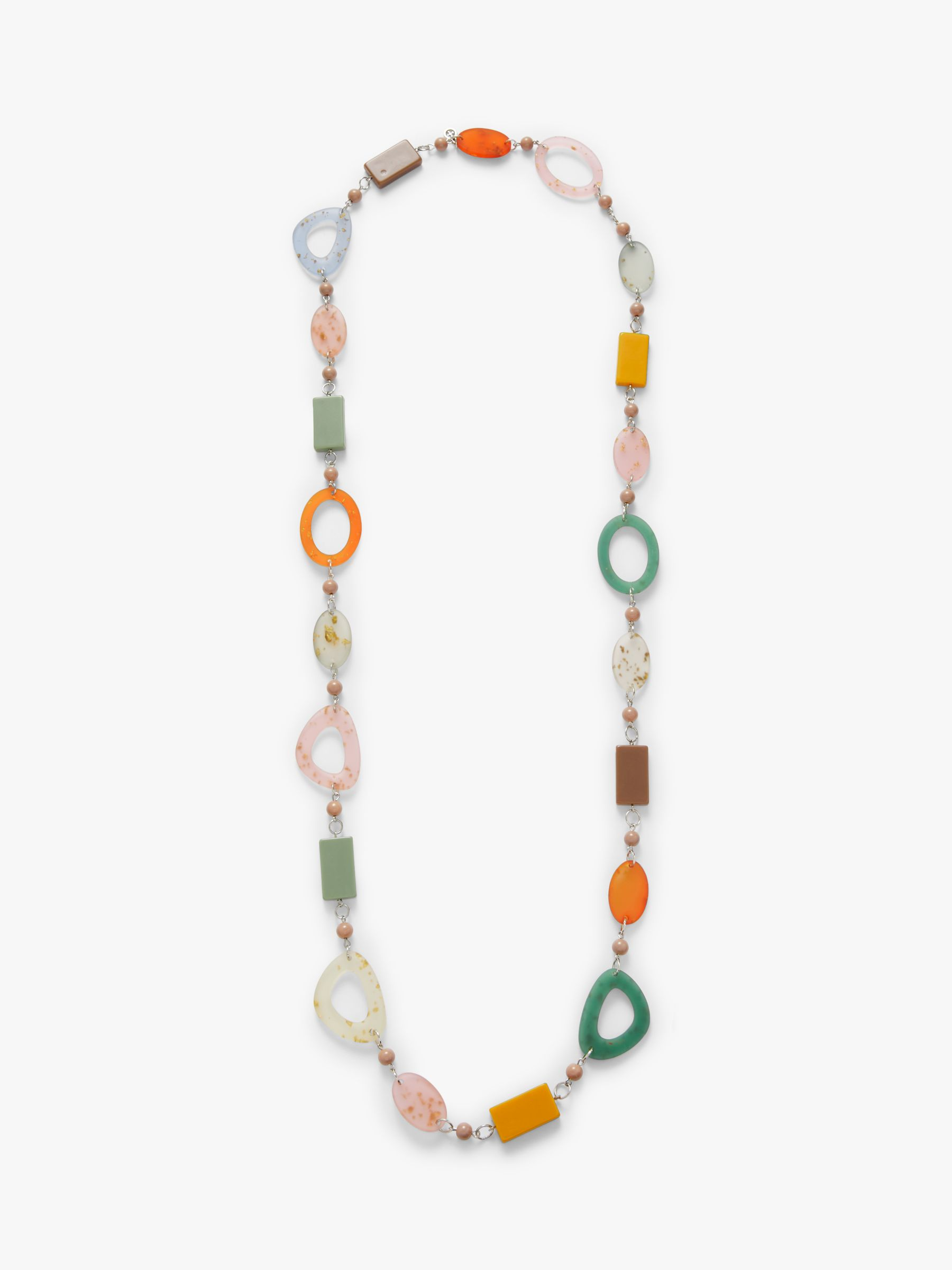 One Button One Button Retro Long Bead Necklace, Multi