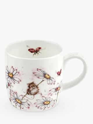 Wrendale Designs Daisies & Ladybirds Mug, 310ml, White/Multi