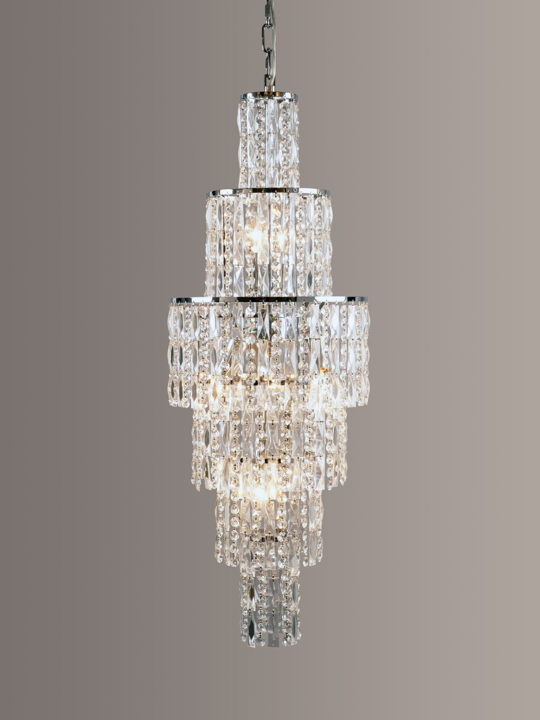 Impex Impex New York Crystal Chandelier Ceiling Light, Clear/Chrome