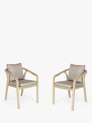 KETTLER Cora Rope Garden Dining Armchairs, Set of 2, FSC-Certified (Acacia Wood), Natural