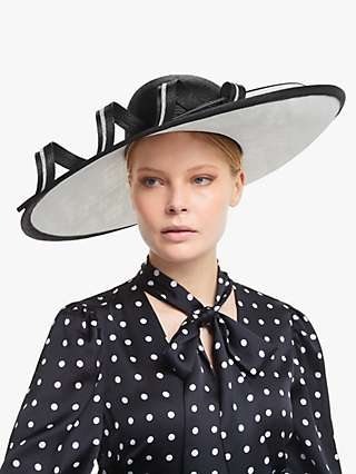 Whiteley Margaux Loop Detail Occasion Hat, Black/White